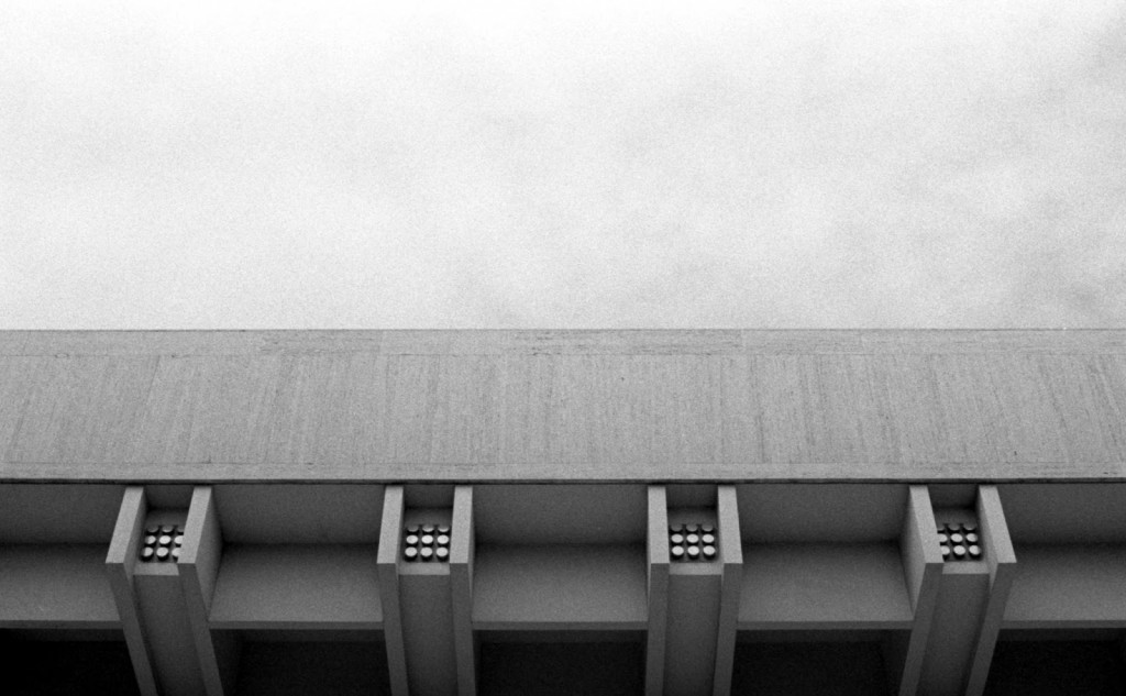 LBJ Library and Museum UT Austin roof facade